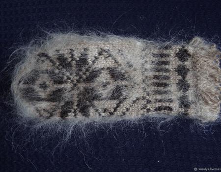 Варежки,рукавицы вязанные шерсть с пухом №9 ручной работы на заказ