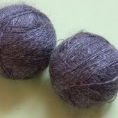 Пуховая пряжа ручного прядения -козий пух с коз придонской породы Д5.