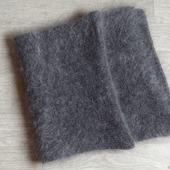 Большой шарф пуховый,вязанный -козий пух,шерсть.