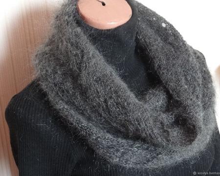 Снуд,шарф,труба,хомут вязанный пуховый. ручной работы на заказ