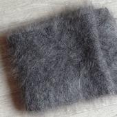 Пуховый шарф -вязанный -козий пух,шерсть.
