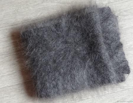 Пуховый шарф -вязанный -козий пух,шерсть. ручной работы на заказ
