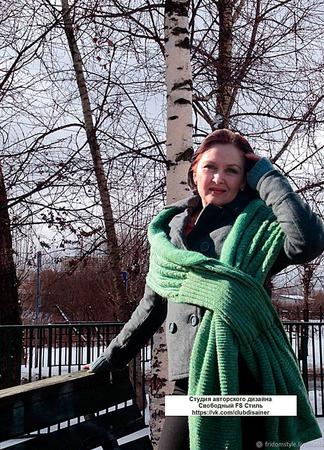 """Шарф-накидка в восточном стиле """" Зелёная сказка"""" ручной работы на заказ"""