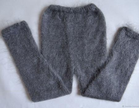 Пуховые брюки,гамаши,рейтузы,штаны. Козий пух. ручной работы на заказ