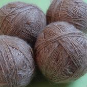 Пуховая пряжа ручного прядения -козий пух с коз придонской породы ВЗ 3