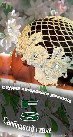 Весенне летний комплект с розами и стразами сваровски ручной работы на заказ