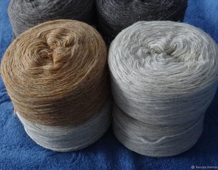 Шерстяная овечья пряжа,носочная. ручной работы на заказ