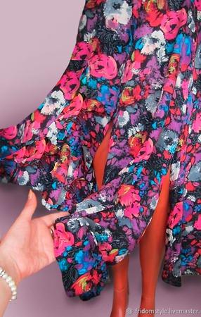 """Летний костюм """"Цветочный вальс"""" ручной работы на заказ"""