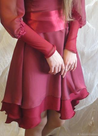 """Платье на выпускной для настоящей принцессы """"Малиновый бутон"""" ручной работы на заказ"""