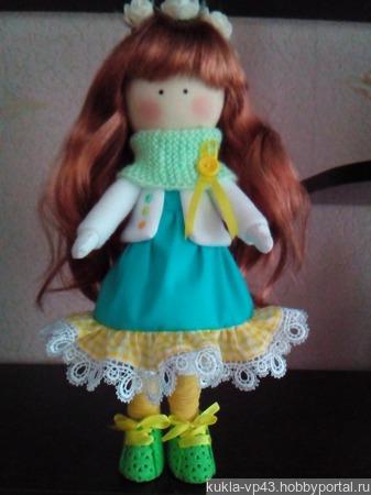 Интерьерная текстильная кукла Марьяна ручной работы на заказ