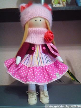 Текстильная кукла Полина ручной работы на заказ