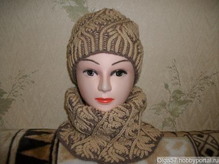 Комплект -шапка- снуд или шарф ручной работы на заказ