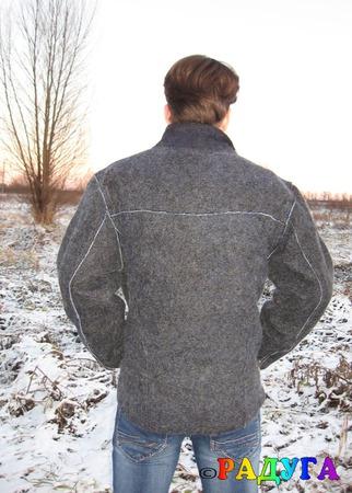 """Куртка мужская """"Косуха"""" - войлок ручной работы на заказ"""