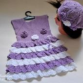 """Платье для девочки """"Сирени цвет"""""""