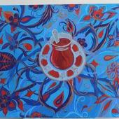Картина акрилом Восточный чай