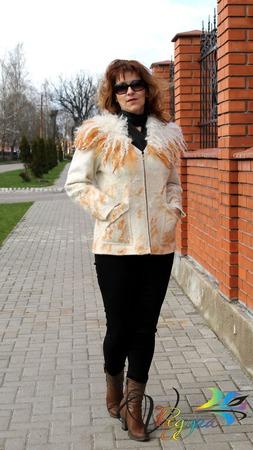 """Куртка валяная """"Янтарная волна"""" ручной работы на заказ"""