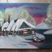 Картина маслом Зимовье