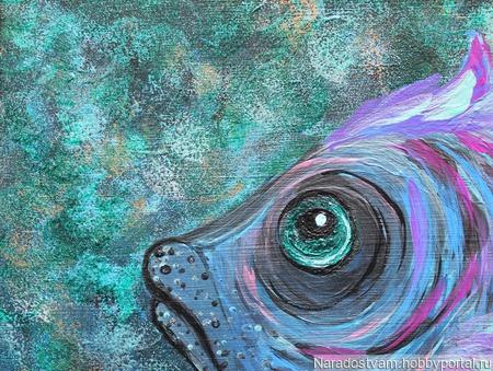 Картина акрилом Тыж моя Рыба) ручной работы на заказ