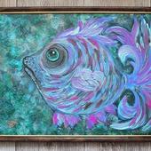 Картина акрилом Тыж моя Рыба)