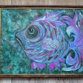 """Картина акрилом """"Ты ж моя Рыба"""""""
