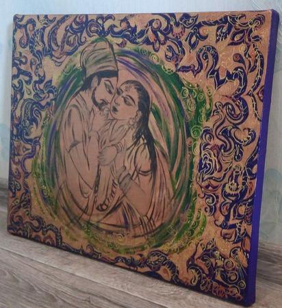 Картина акрилом Восточные сказки ручной работы на заказ