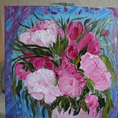 Картина маслом Розовая нега