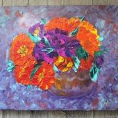 Картина маслом Цветочная фантазия
