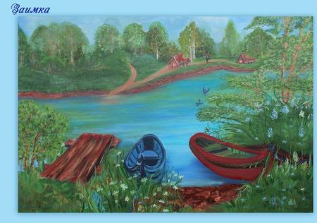 Картина маслом Деревенская романтика ручной работы на заказ