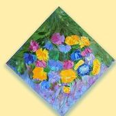 Картина маслом Цветочная мозаика