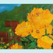 Картина маслом Желтые розы