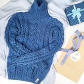 Модный вязаный свитер ручной работы в Екатеринбурге
