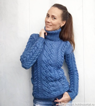 Модный вязаный свитер ручной работы в Екатеринбурге ручной работы на заказ