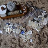 Набор пуговиц перламутровых (ракушка) для кукол и мишек Тедди