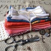 Набор винтажного шёлка (лоскуты) №7