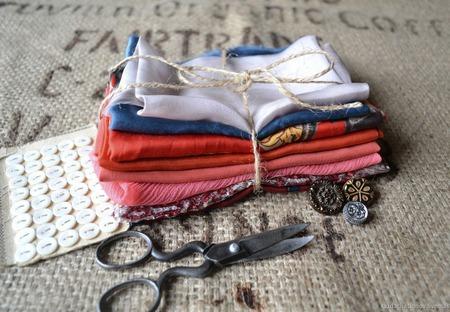 Набор винтажного шёлка (лоскуты) №7 ручной работы на заказ