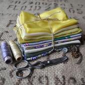 Набор винтажного шёлка (лоскуты) №5