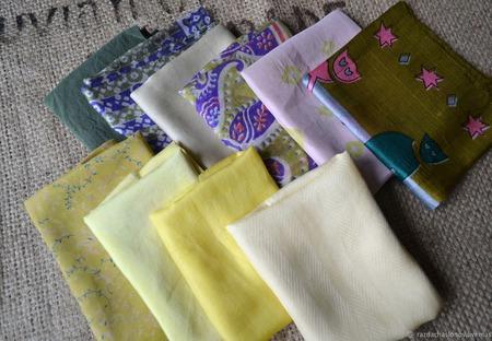 Набор винтажного шёлка (лоскуты) №5 ручной работы на заказ