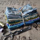 Набор винтажного шёлка (лоскуты) №4