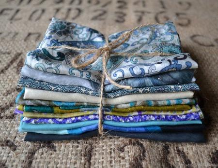 Набор винтажного шёлка (лоскуты) №4 ручной работы на заказ