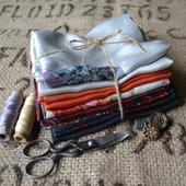 Набор винтажного шёлка (лоскуты) №2