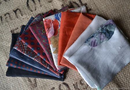 Набор винтажного шёлка (лоскуты) №2 ручной работы на заказ