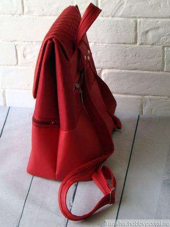Рюкзак женский Бордо ручной работы на заказ