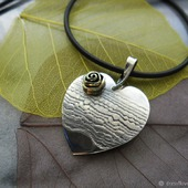 Подвеска серебряная Кружевное сердце