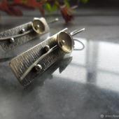 Серьги из серебра 925 Цветок фонарик