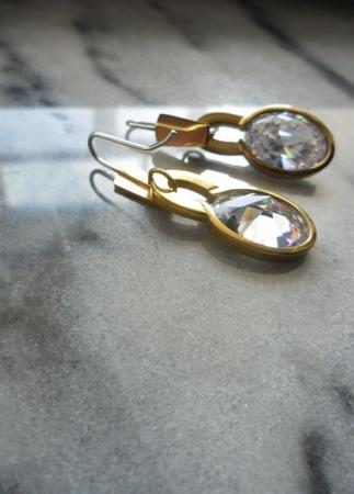 Серьги позолоченные Квазар, серебро и латунь ручной работы на заказ