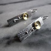 Серьги из серебра Цветы, авторское серебро