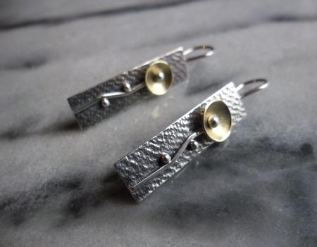 Серьги из серебра Цветы, авторское серебро ручной работы на заказ