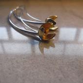 Серьги из серебра Цветущие огурцы, серебро, минимализм