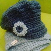 Кепка и шарф зимний комплект