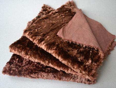 Плюш винтажный для мишек Тедди №5 ручной работы на заказ